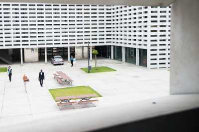 Main courtyard of the new building