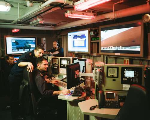 Operations room on the 'Cavour'