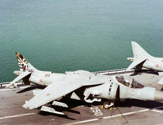 The AV-8B Harrier II jet from Wolves squadron