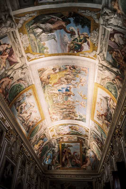 'Galleria dei Carracci', painted by the Carracci brothers, Annibale and Agostino, between 1597 and 1608