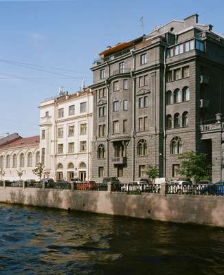 The Wege House (right) on Kryukov Canal
