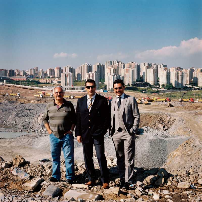 Bulent Akin, project manager of Agaoglu (left), with Kutulu and Kanver