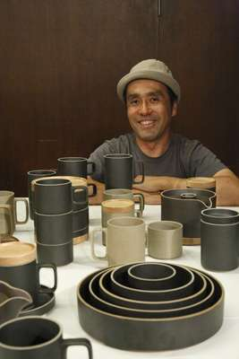 Hasami porcelain - Designer Taku Shinomoto, owner of Tortoise in LA, collaborated with a Japanese kiln to make tableware.