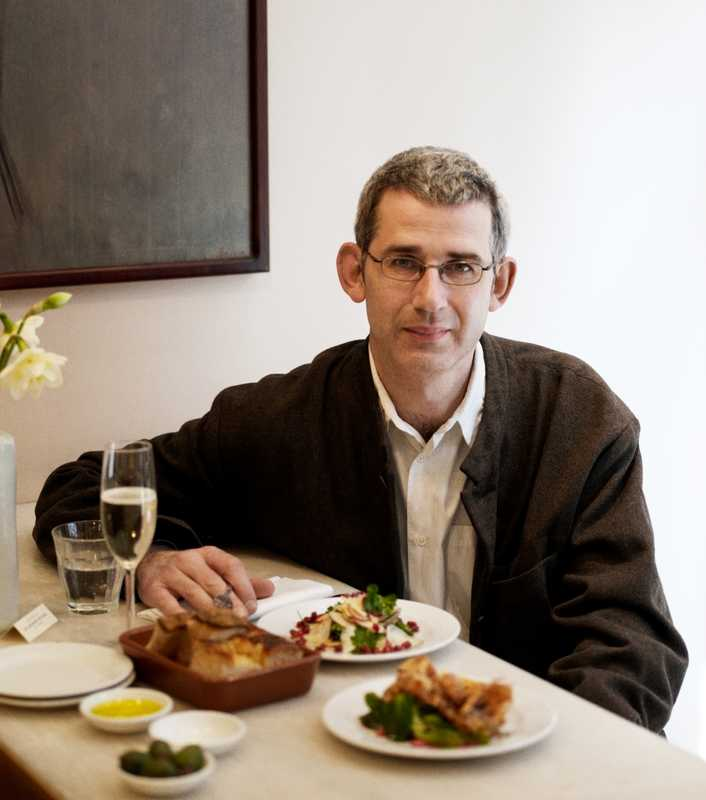 Edmund de Waal with his 'last meal'