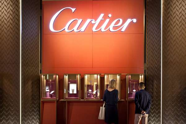 The Cartier watch display at SIHH