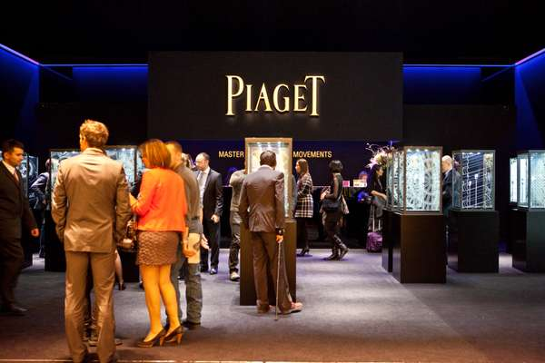 The Piaget stand at the Salon International de la Haute Horlogerie
