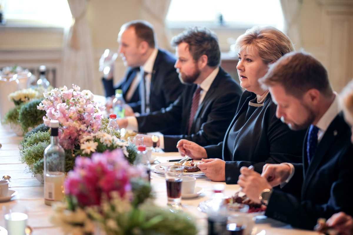 Figgjo plates are good enough for  Norwegian prime minister Erna Solberg
