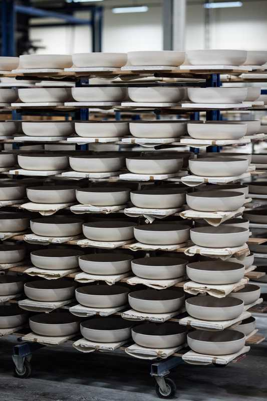 Crates of crockery