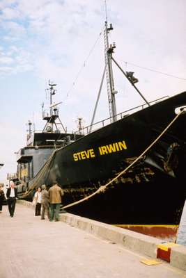 Steve Irwin Sea Shepherd, used for  Antarctic anti-whaling campaigns