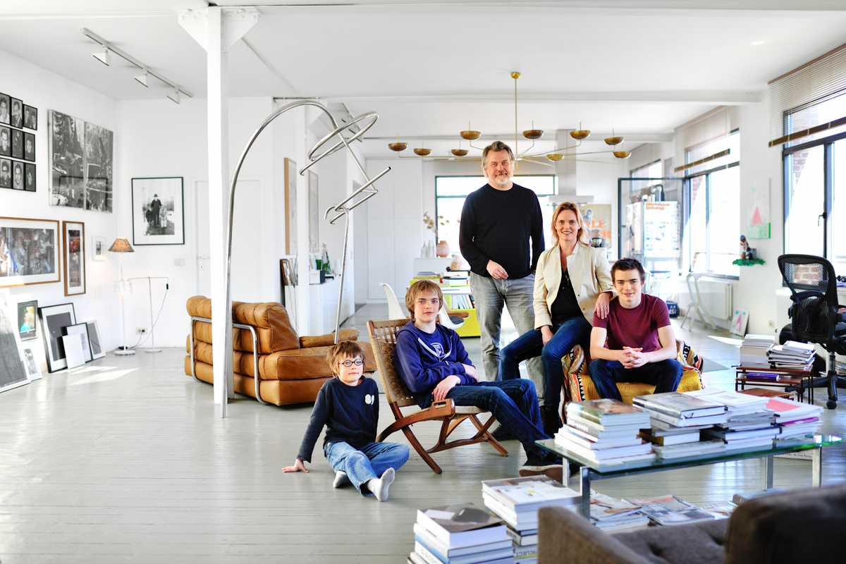 Local Dimitri Jeurissen, head of Base Design, and his family