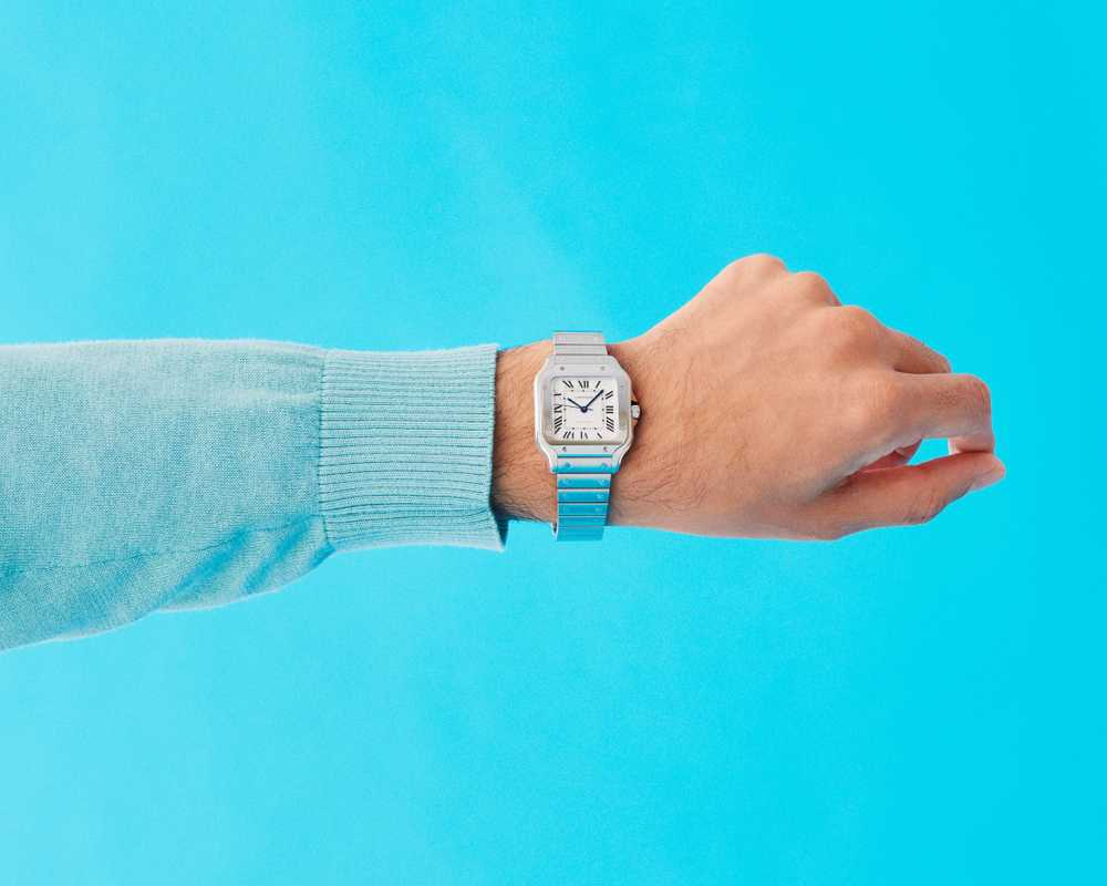 Jumper by APC, watch by Cartier
