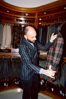 Salesman Francesco Caramma at the Massa boutique