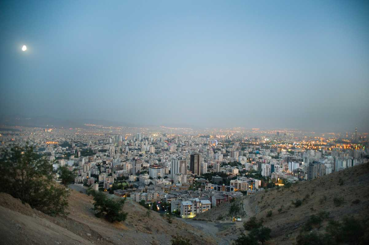 View of northern Tehran from Baam-e-Tehran (the roof of Tehran) in upmarket Velenjak