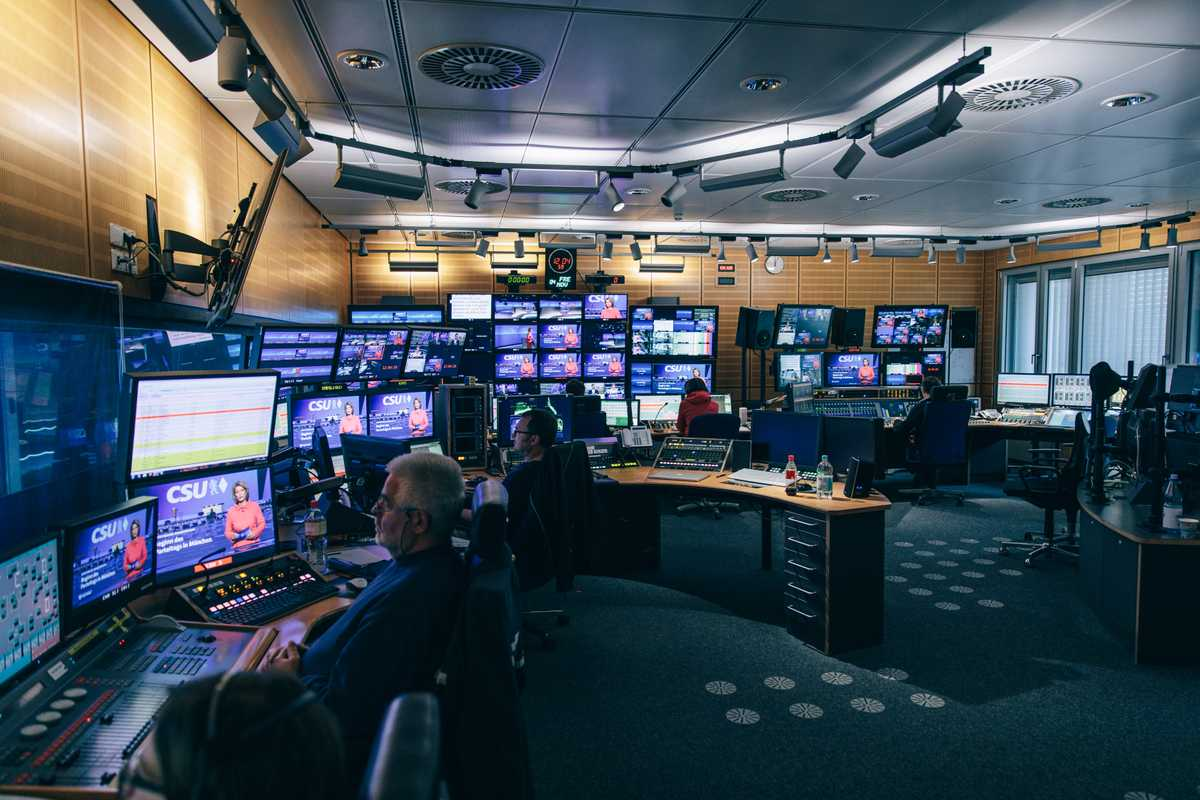 The control room during a newscast