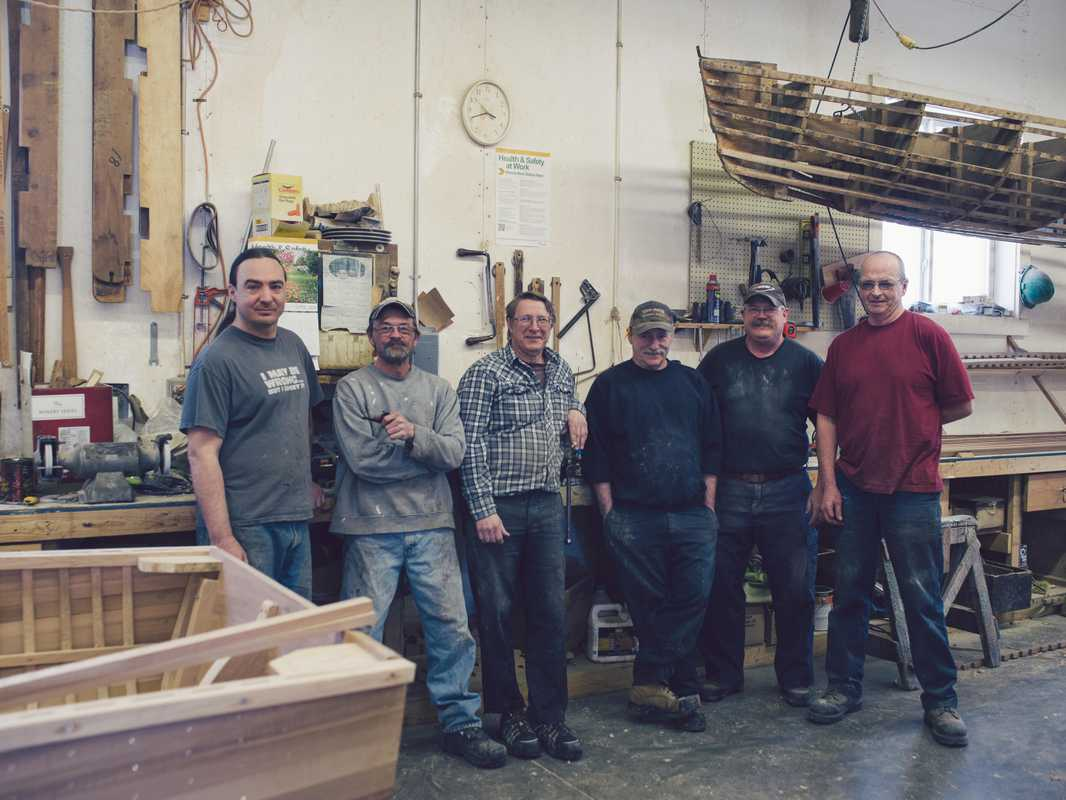 Gerry Giesler (third from left) and team