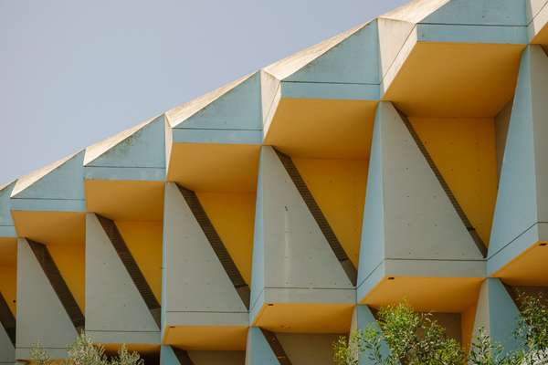 Colourful brutalism at the Technion campus
