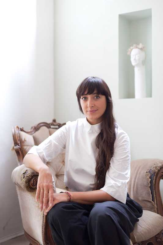 Elena Pignata, fashion designer and owner of boutique Ombradifoglia
