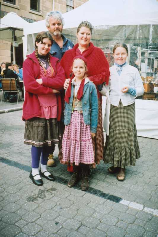 Family at Salamanca market