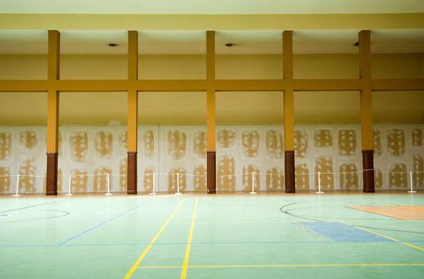 The sports hall built for US soldiers