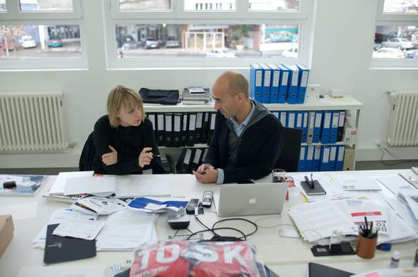 Founder Nicolas Rochat (right) and Raphaele Zenger, creative director