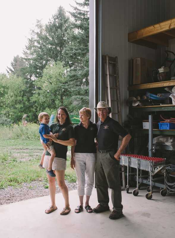 Mill Creek Farm's Beth Kuijpers and family
