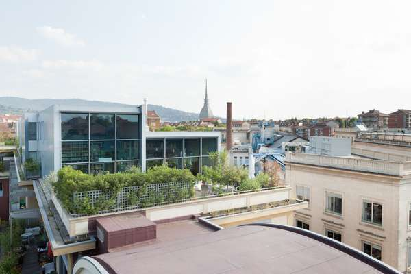 Rooftop view from loft in Corso Regio Parco