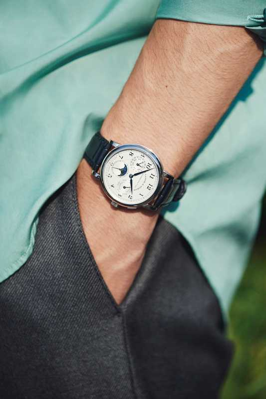 SHIRT by Salvatore Ferragamo, TROUSERS by Cellar Door, WATCH by A Lange & Söhne