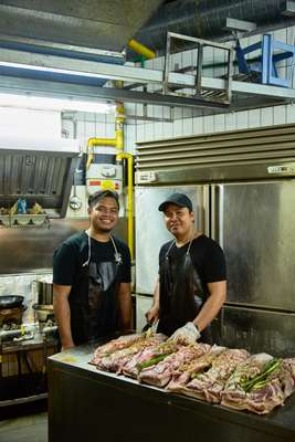Chefs at Iskina Cebu preparing dinner