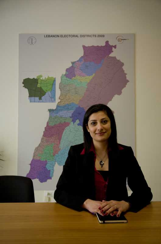 Chantal Sarkis, programme manager for the International Foundation for Electoral Systems (IFES)