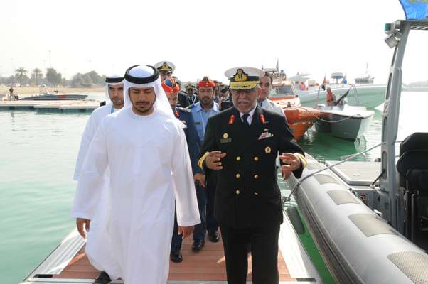 His Highness Sheikh Sultan Bin Tahnoon Al Nahyan, chairman of Abu Dhabi Tourism Authority & ADNEC (left), Major General Obaid Al Ketbi (right)