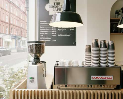 Our Mazzer Super Jolly grinder and La Marzocco coffee machine will make a superior espresso
