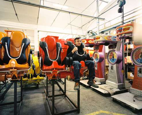 It's a tough job. A worker tries out the new Air Race seat
