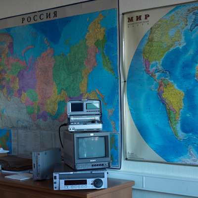 Broadcasting equipment in Margarita Simonyan's office