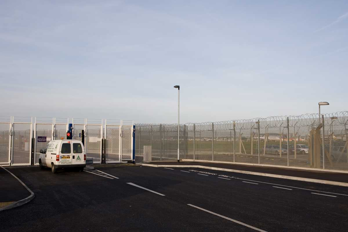 Gatwick's perimeter fence, which is regularly checked on patrol