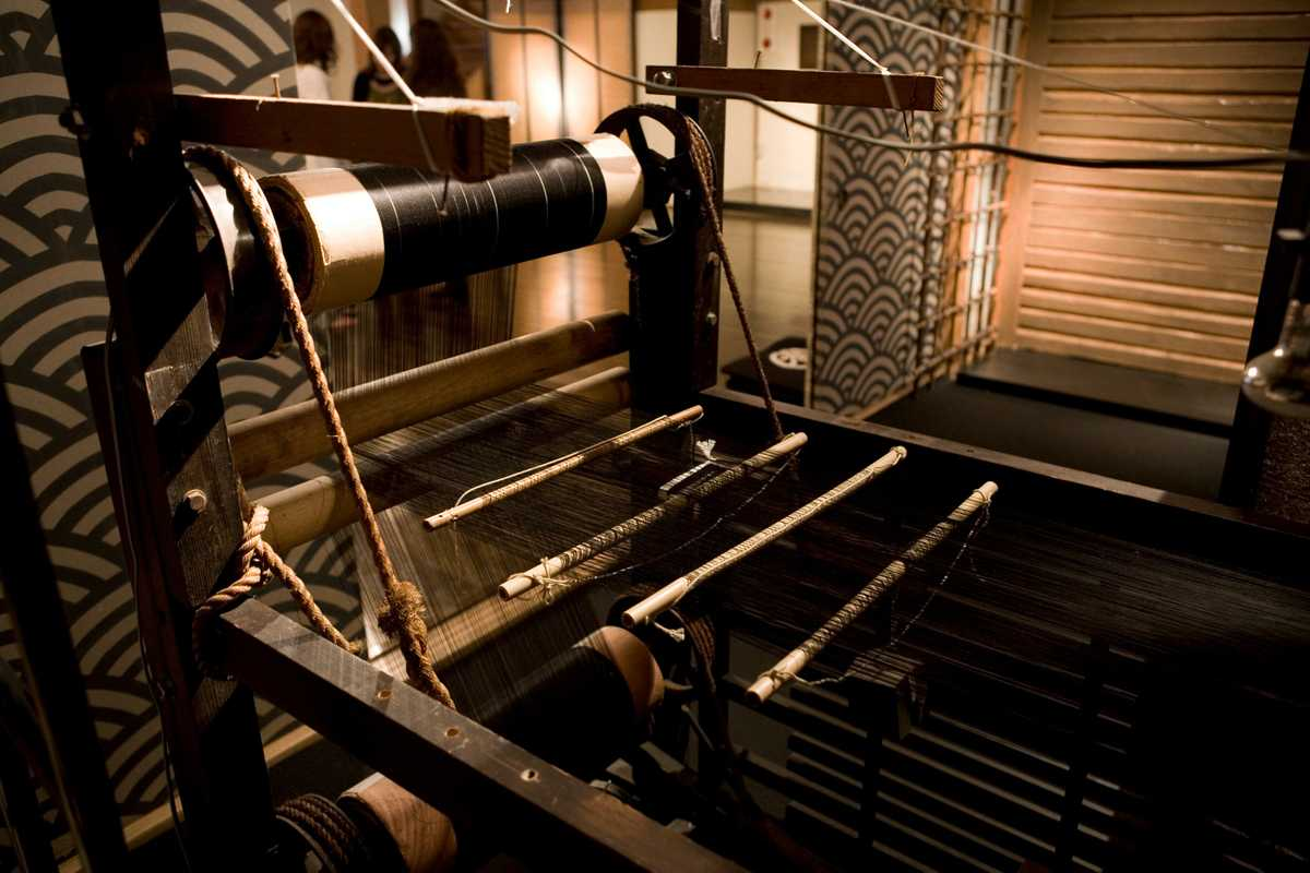 Meiji-era loom