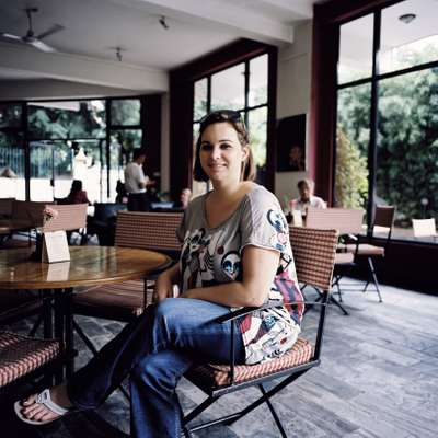 Rachael Manley, owner of a new art café