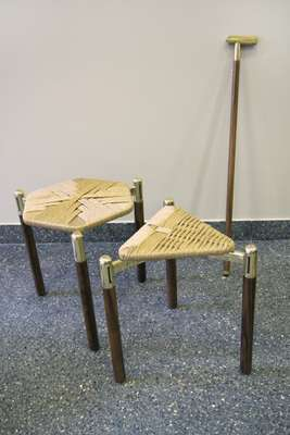 David/Nicolas's straw stools and T-cane