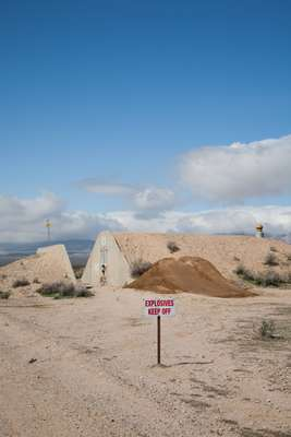 Second World War era bunker at Mojave Air and Space Port