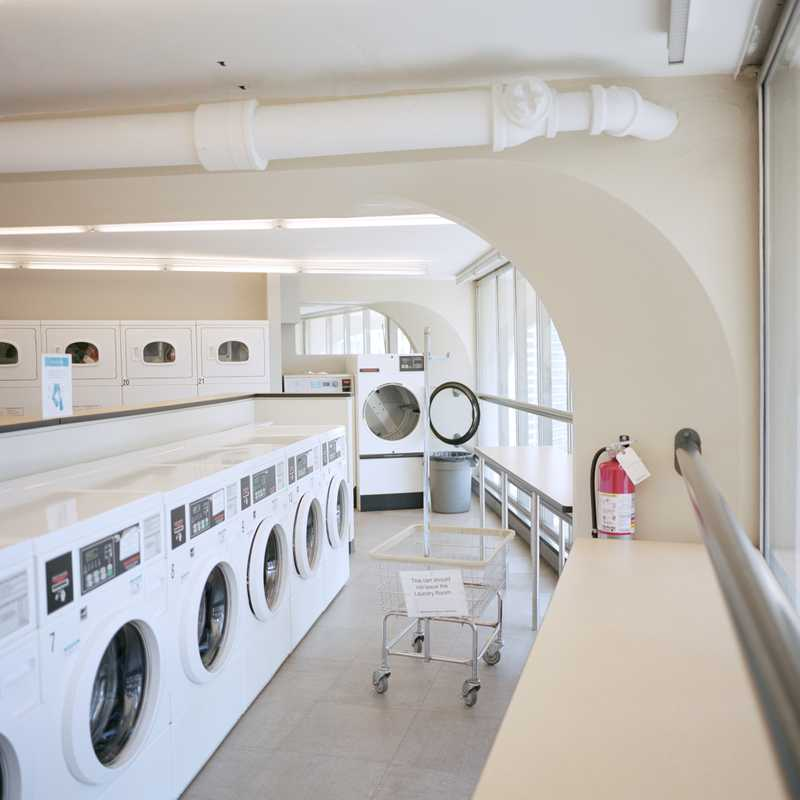 Marina City's communal laundrette