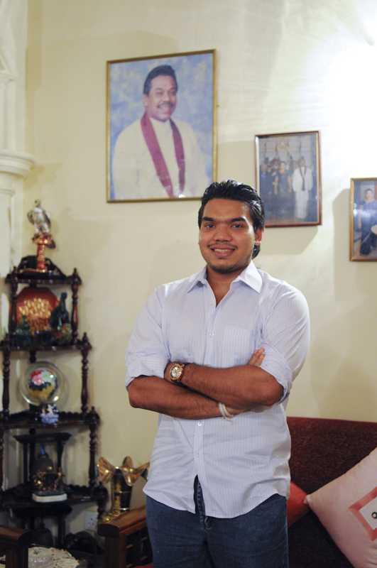 Namal Rajapaksya, son of the Sri Lankan president