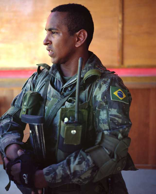 Private Mauricio Rodrigues Santos at Brabat1's Cité Soleil base