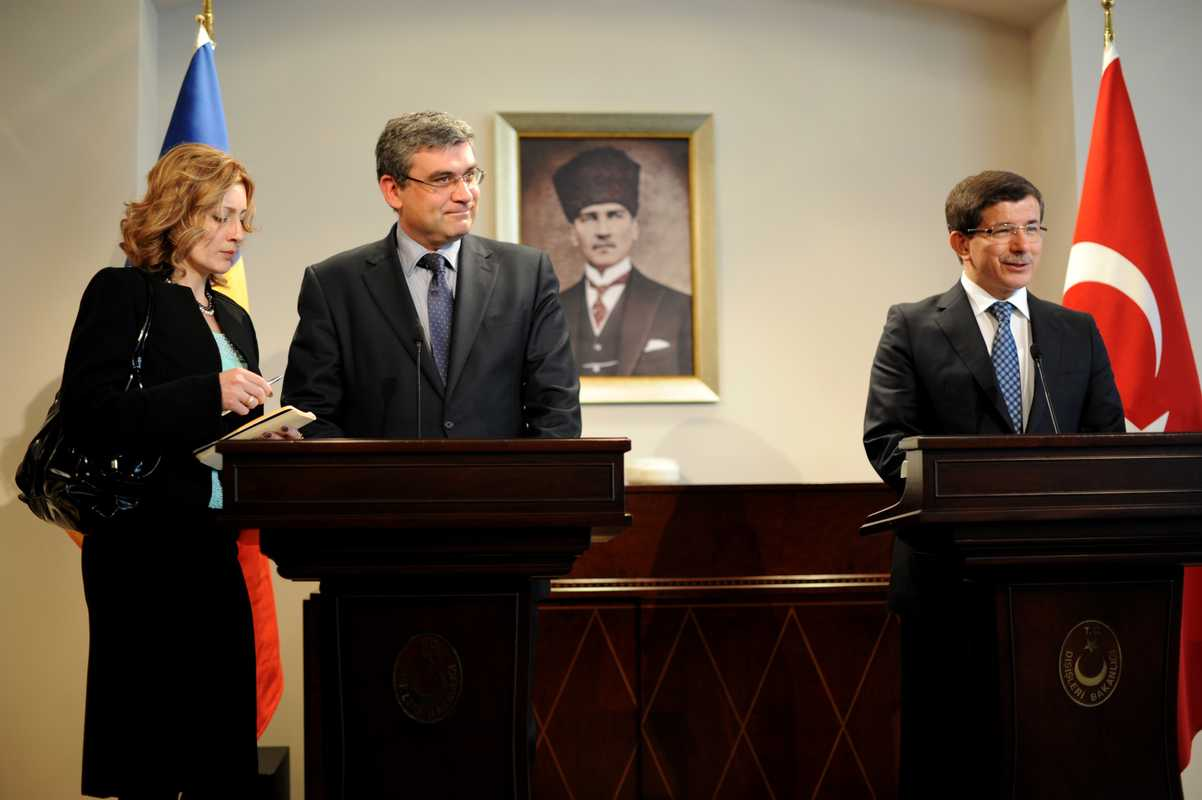 Morning press conference with the Romanian minister of foreign affairs
