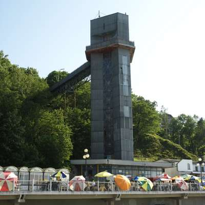 Soviet lift to the beach in Svetlogorsk