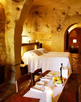 One of Sextantio's luxurious cave suites