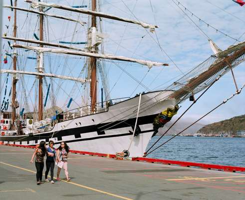 Colombian ship docked at St John's