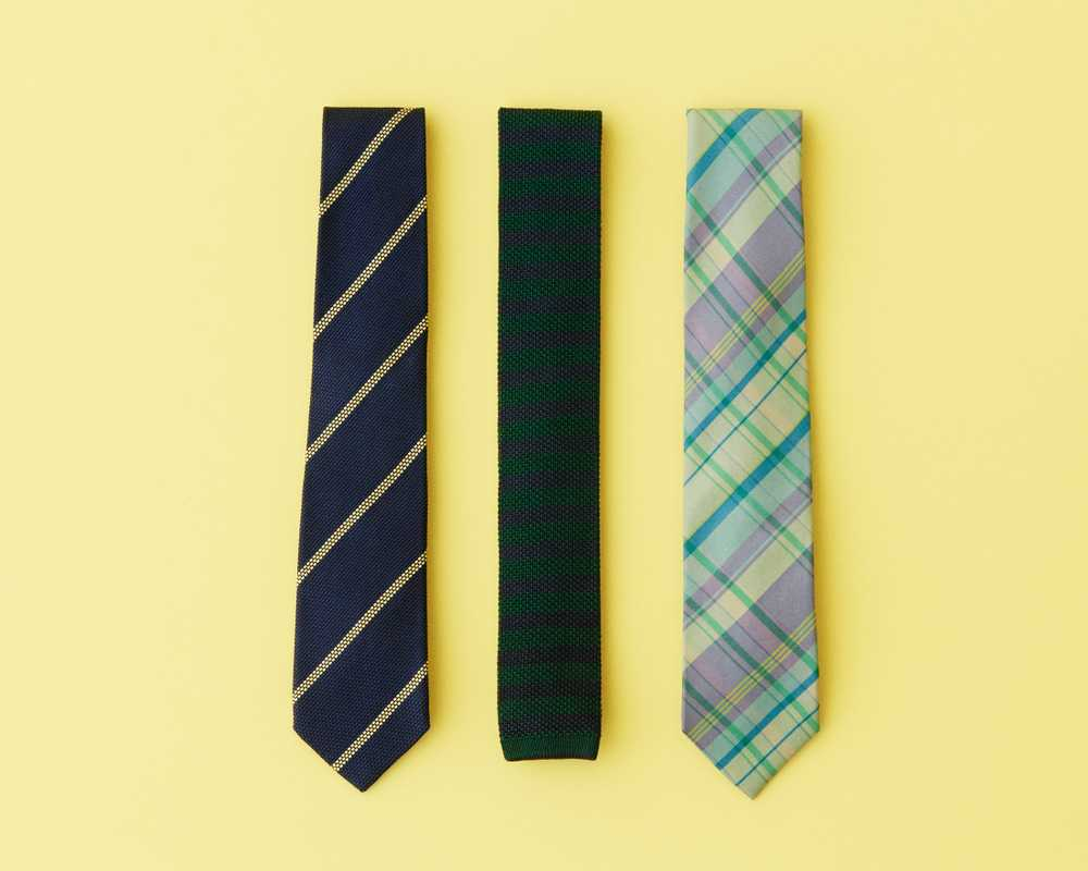 Ties (from left) by John Comfort, Sergej Laurentius and Drake's