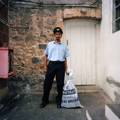 Delivering the Royal Mail post on St Helena