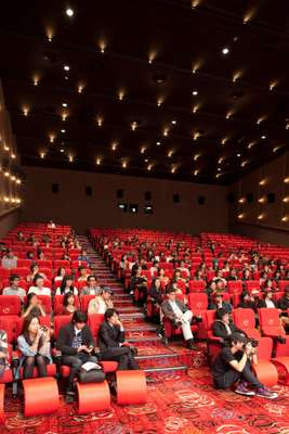 Audience at a Q&A session with the cast of 'Breathless' by up-and-coming director Yang Ik-joon