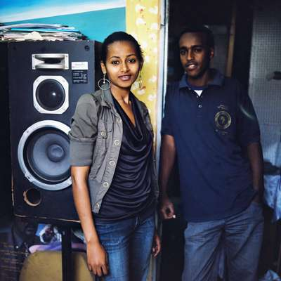 Rita Neglash and Ermias Hiwet work at Blenda Media Productions, Asmara