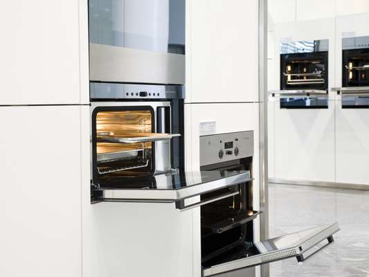 Ovens in the Zug showroom